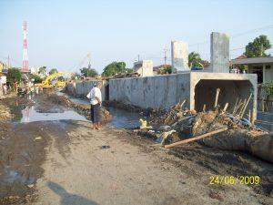 proyek box culvert banyu urip tutup jalan